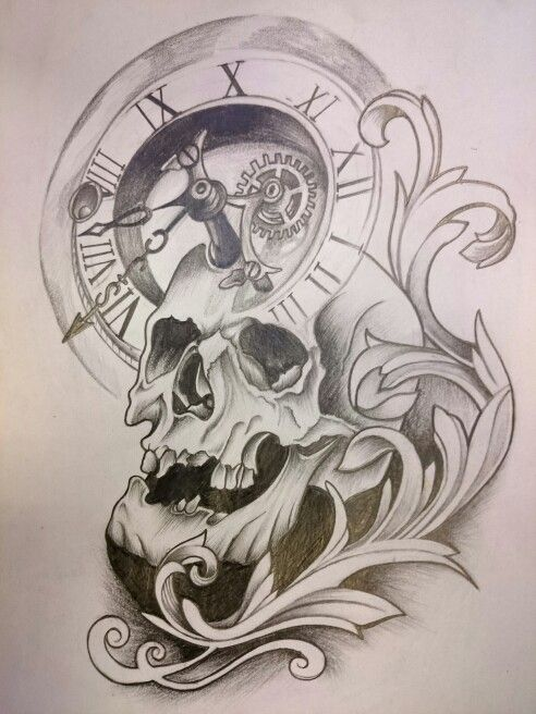 Skull tattoo project   Coloring Pages   Tattoo drawings ...
