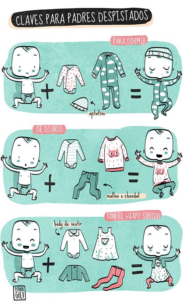 Claves para padres despistados... vestir a un bebé
