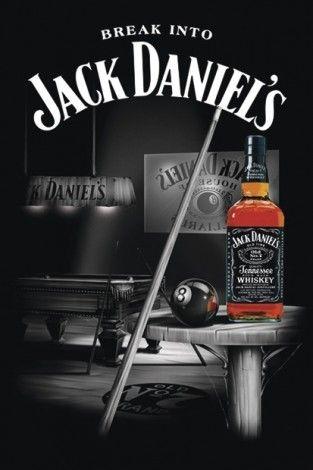 Jack Daniel's - Pool - Billiard - plakat - 61x91,5 cm  Gdzie kupić? www.eplakaty.pl