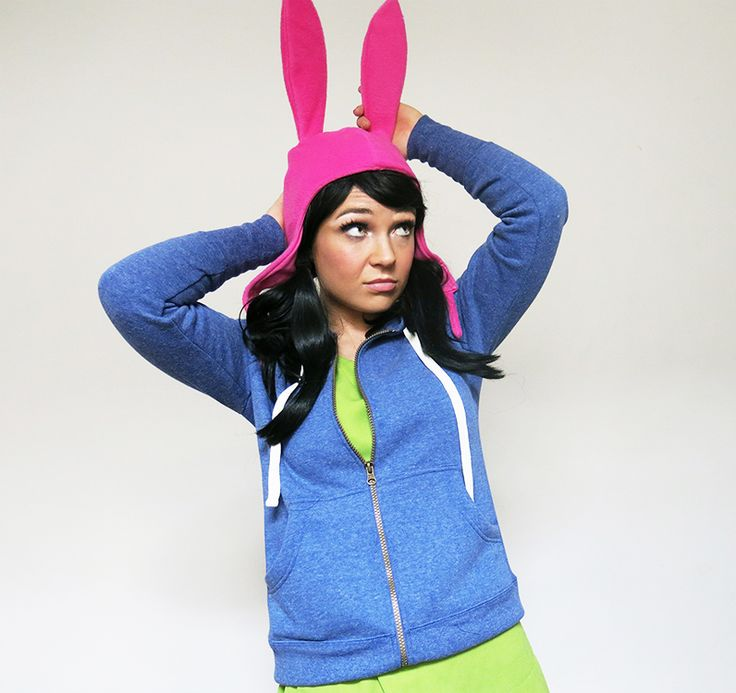 """Feisty Cuffs as Louise Belcher from Bob's Burgers.  Louise is my favourite character from the show. This is from the episode """"Ear-sy Rider"""" when her hat get's stolen :) Check out more of cosplays at www.facebook.com/feistycuffs Picture by Feisty Cuffs"""