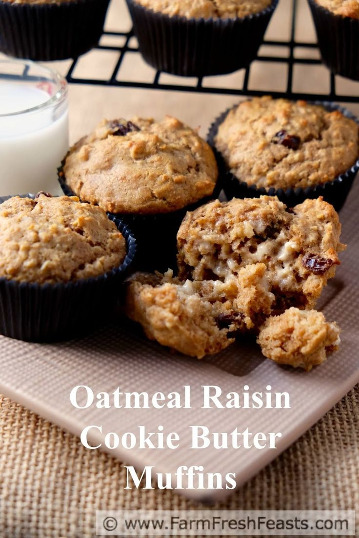 oatmeal raisin cookie butter muffins # muffinmonday cookie butter ...