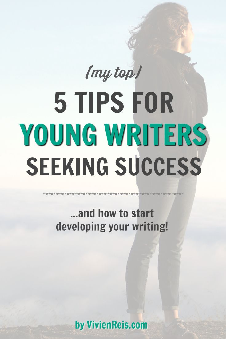writing tips for young authors Five great writing tips from jk rowling image credit these days, jk rowling is a household name all over the world - the first billionaire author on the planet and the creator of a world that many of us can't imagine life without.