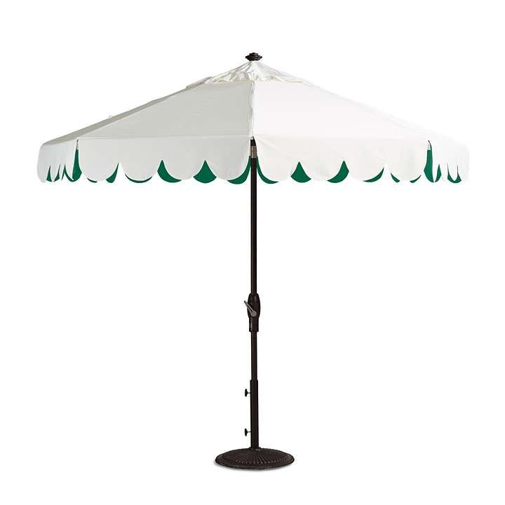 Seaside Scallop Jade Designer Umbrella Pools And Gardens