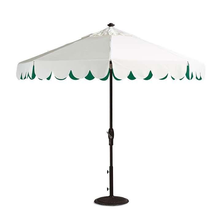Seaside Scallop Jade Designer Umbrella