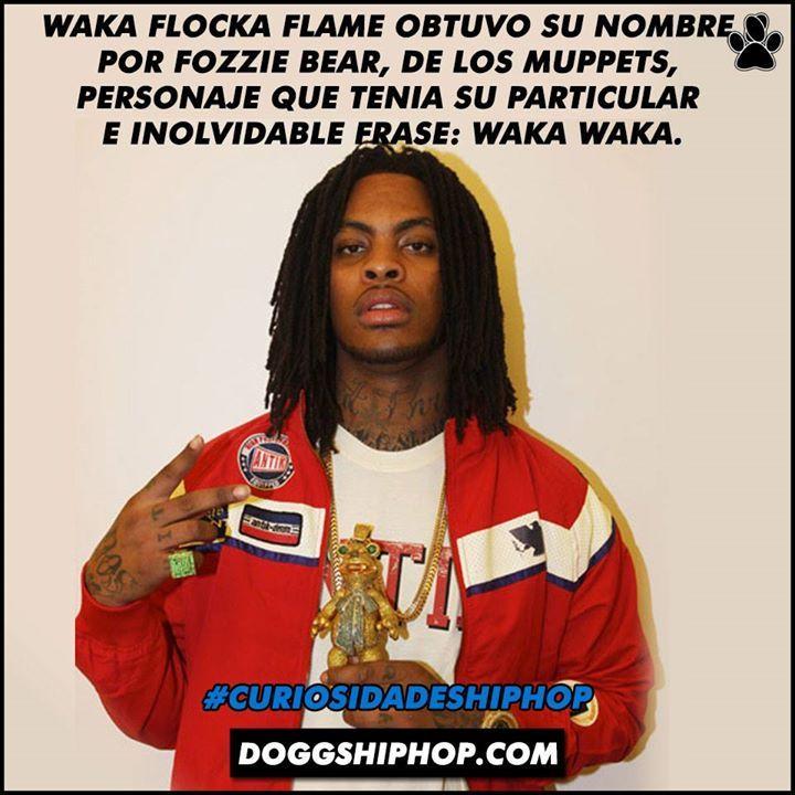 Y así fue que salió su nombre: Waka Flocka Flame inspirado en The Muppets Lo sabias? #CuriosidadesHipHop
