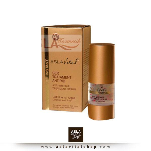 Aslavital Lift İnstant Anti-Wrinkle Treatment Serum  Her cilt tipine uygun olan bu ürün sarkma, lekelenme ve kırışıklıklar gibi yaşlanma etkilerine özel olarak üretilmiş bir sıvı jeldir. Kırışıklık ve Sarkmalara Karşı Gece Serumu 159 TL! www.aslavitalshop.com