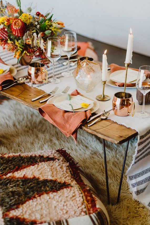 Bohemian tablescape ideas | 100 Layer Cake | Bloglovin'