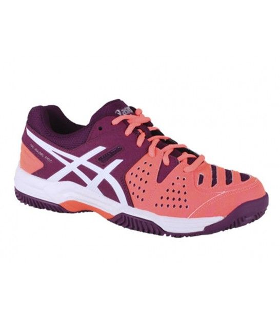 ASICS GEL PADEL PRO 3 SG FLASH CORAL / WHITE / PLUM