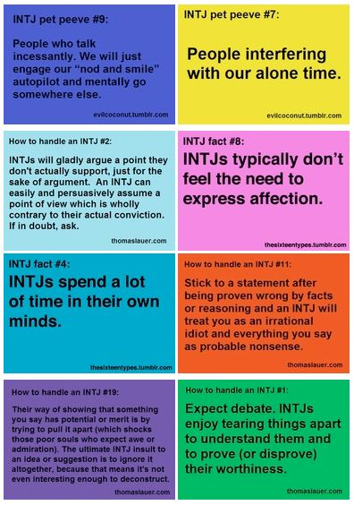 INTJ haha this is mostly completely true. I feel a little bad about always dissecting people's plans. hopes and dreams.....