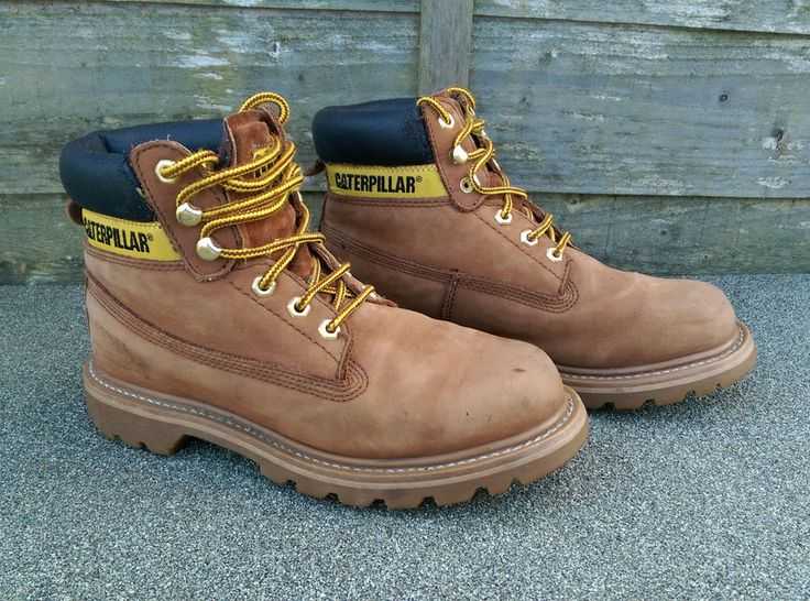 Catepillar Boots Size 6 UK 40 EUR Work Walking Leather Tan Honey Good Condition #Caterpillar #WorkBoots