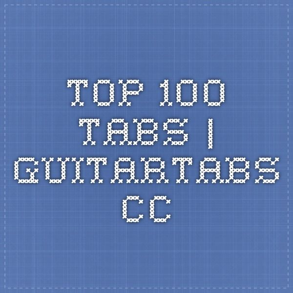 Guitar guitar tabs 100 : 1000+ images about Guitar Tabs and Chords on Pinterest