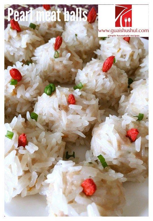 Glutinous Rice Coated Meatballs aka Pearl Meatballs (珍珠丸子)