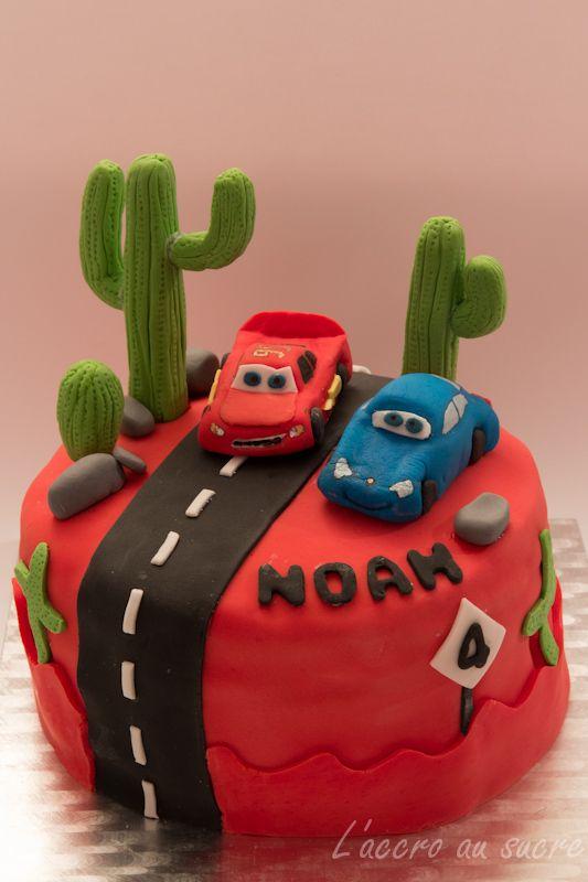 L'Accro au sucre a un blog: Mon gâteau CARS Flash Mc Queen en pâte à sucre