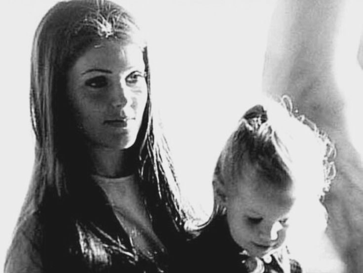 Priscilla and Lisa Marie Presley, c. 1970.