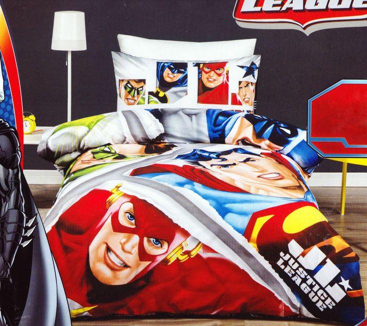 Licensed Justice League SINGLE / DOUBLE / QUEEN Duvet/Doona/Quilt Cover SET BNIP  | eBay