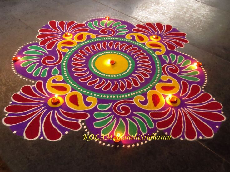 1000 images about beautiful rangolies on pinterest for Floor rangoli design
