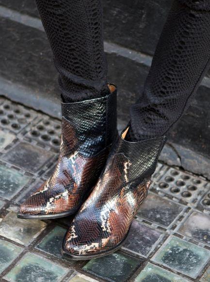 snakeskin cowboy boots via zara people