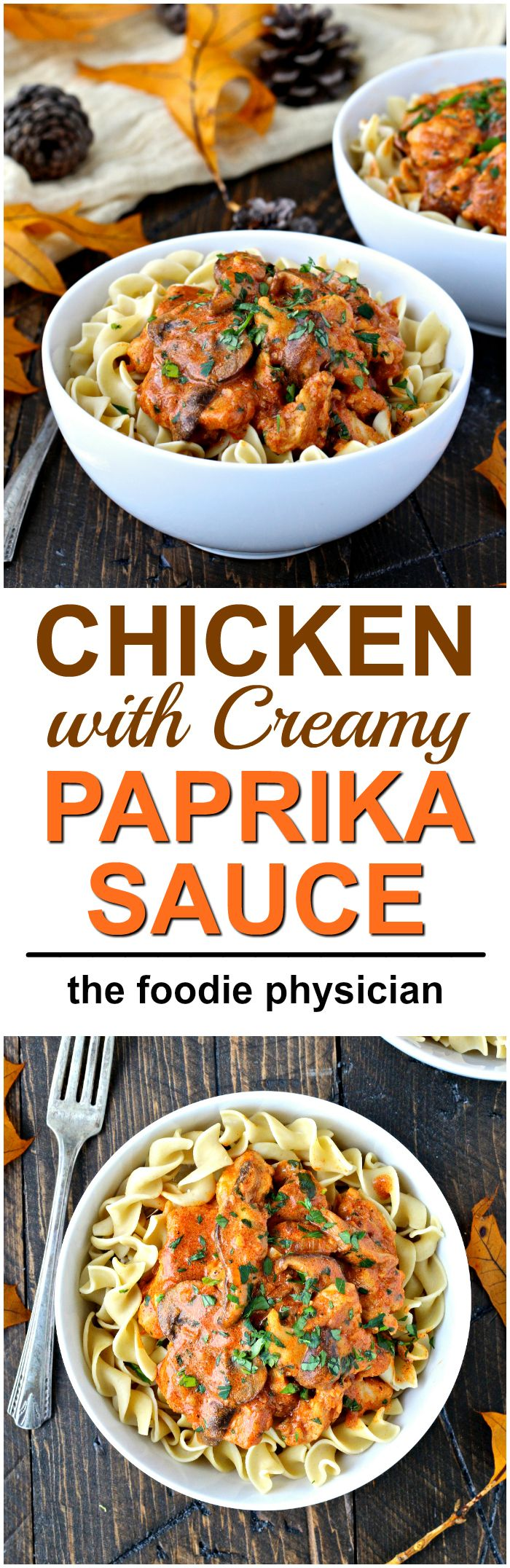 Chicken with Creamy Paprika Sauce- a hearty & delicious budget-friendly dish!   @foodiephysician