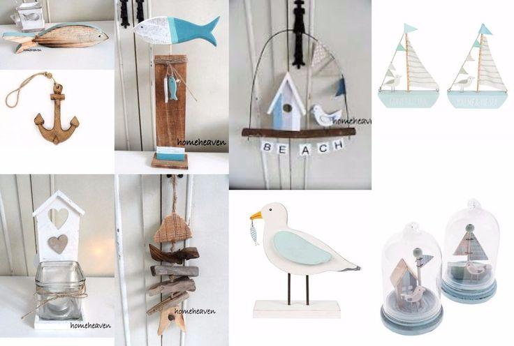 Bathroom Ornaments Nautical Sail Boat Seagul Bird Beach Hut Blue #homeheavn