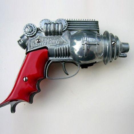 """Atomic Disintegrator"" - Vintage Mid-Century Toy Raygun #scifi #retrofuturism #futuristic"