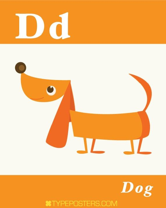 D is for Dog by TypePosters on Etsy