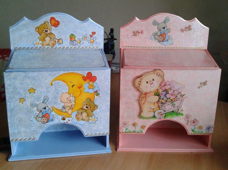 imágenes de cajas con decoupage para bebes - Buscar con Google