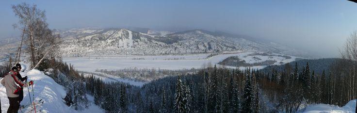 Вид на реку Томь и Сыркаши. Югус, Междуреченск