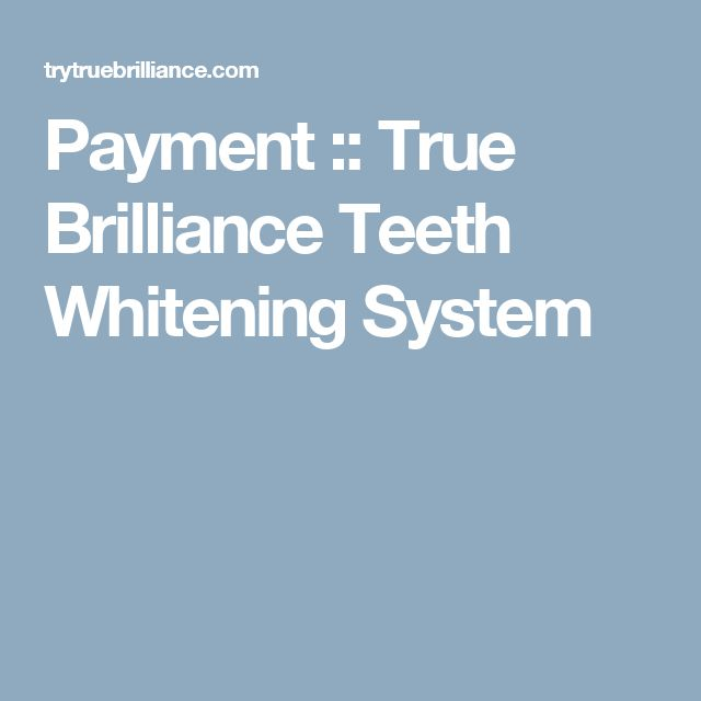 Payment :: True Brilliance Teeth Whitening System