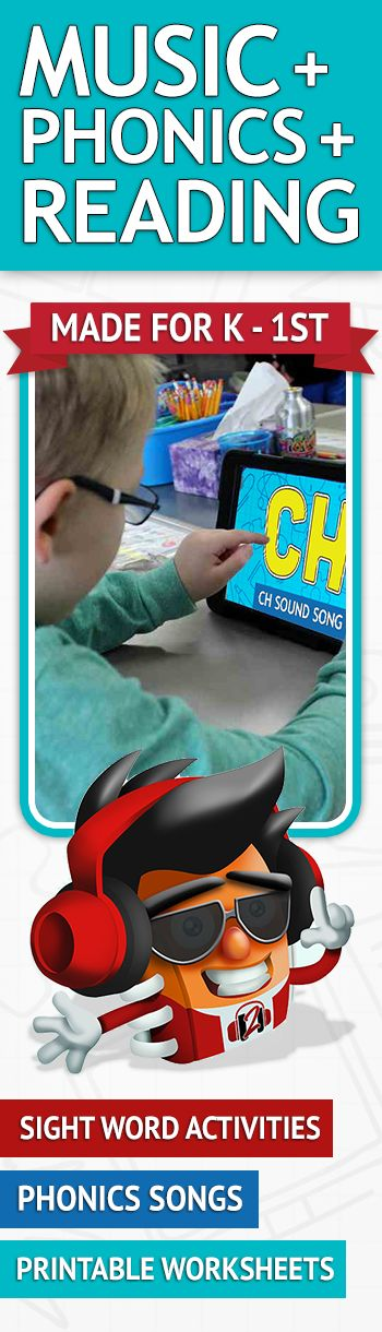 Kids read, sing, and rap their way to learning letter sounds, digraphs, sight words, consonant blends and more, complete with interactive question and printable worksheets. Try it today for free!