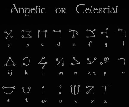 "Ceremonial Magick Alphabets - ""Passing the River"", ""Malachim"" and ""Celestial"" alphabets were used almost exclusively by ceremonial magicians"