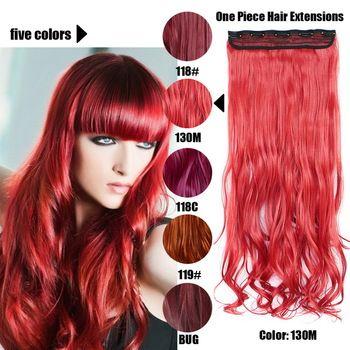 61 Centímetros 120 Gramas 1 peça Mega Hair Tic Tac Cabelo Sintético Ondulado Vermelhos/Ruivos //Price: $67.00 & FREE Shipping