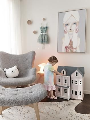 Billie's room features a painting by Sara Winfield. Photo: Julie Adams