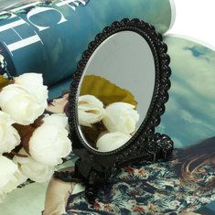 #Banggood Складная мини-зеркало для макияжа косметические черный карман девушка (1116255) #SuperDeals