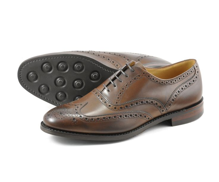 Classic full brogue oxford shoe, made using the '026' last in the wider