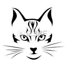 """Résultat de recherche d'images pour """"tete de chat dessin"""""""