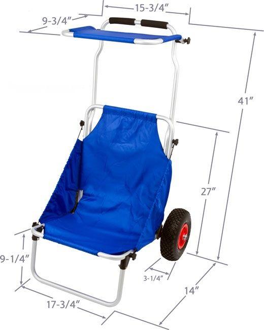 Beach Fishing Trolley,Aluminium /Folding Beach Trolley With Wheels