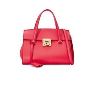 Salvatore Ferragamo Pamplona Tone Mini Mara Leather Satchel - 40% Off