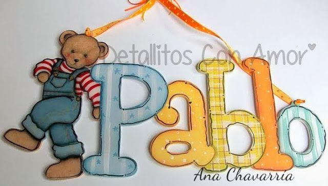Letrero con nombre<3 Elaborado en mdf y totalmente pintado a mano ♥