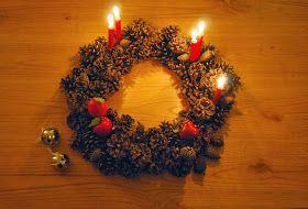 Corona de navidad con piñas. DIY pinecones christmas wreath