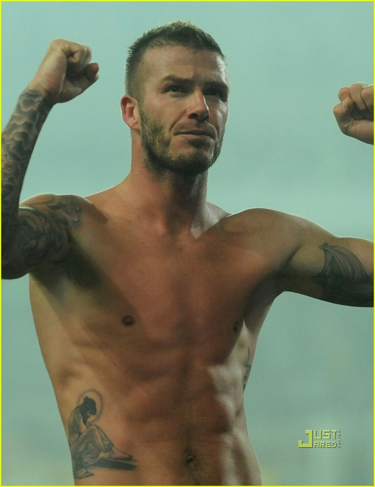 David Beckham- I know, I know, I keep pinning pictures of Beckham but I just can't help myself!!!!  He's so perfect.  :)