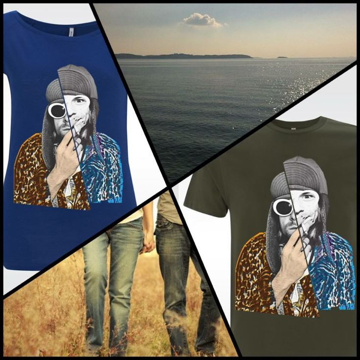 "Sunshine is here! Walk on the beach with our favorite Kurt Cobain ""artified"" tees!!! You can choose your own in a variety of colours at artifiedstore.com e-shop. MEN: http://www.artifiedstore.com/en/men/58-m01-kurt-cobain-t-shirt.html WOMEN: http://www.artifiedstore.com/en/w/18-w43-david-bowie-t-shirt.html"