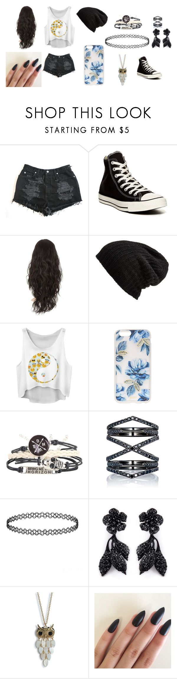 """""""Untitled #68"""" by zahlia-tibbs on Polyvore featuring Converse, Free People, Sonix, Eva Fehren, Valentino and Aéropostale"""