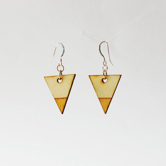 Pendientes geométricas de madera - pendientes de madera de corte láser