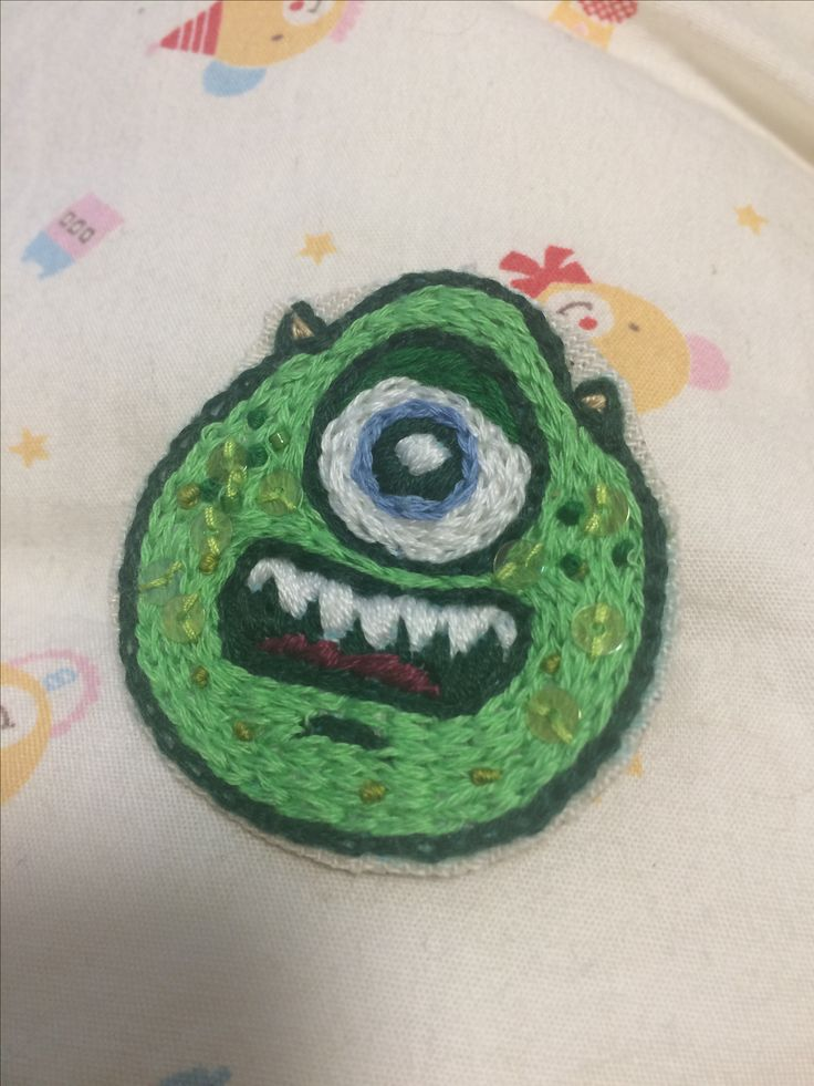 Mike brooch made for friends