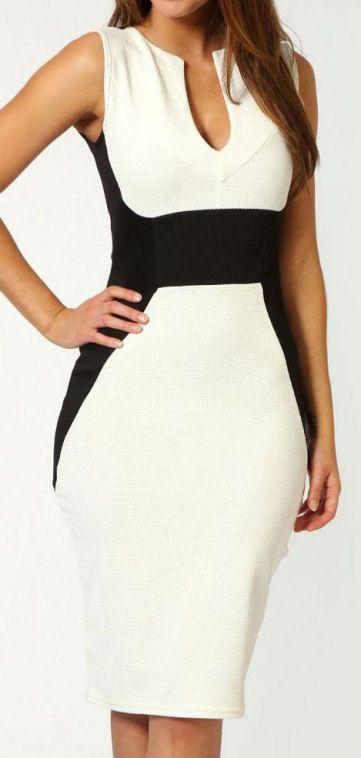 Color Block Bodycon Dress //