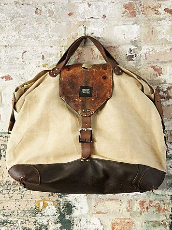 #neutralhuesfashion♥ | Canvas Bag | Leather trimming