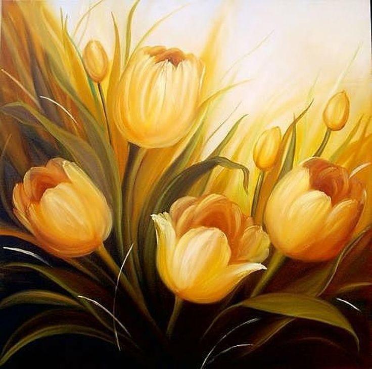 Las 25 mejores ideas sobre pintura de tulip n en for Laminas gigantes para pared