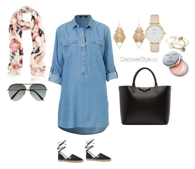 """Denim Dress"" by elza-cat on Polyvore featuring мода, Givenchy, H&M, Victoria Beckham, Charlotte Russe, Kate Spade, Alex and Ani, Bobbi Brown Cosmetics и Circus By Sam Edelman"