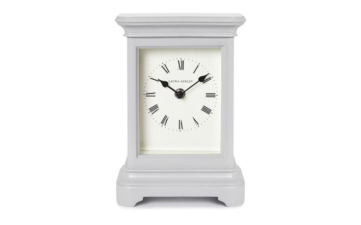 Laura Ashley Library Large Mantel Clock Dove Grey
