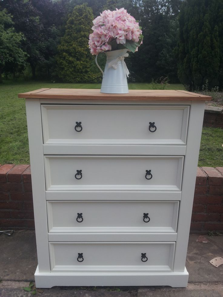 Re-loved painted mexican pine chest of drawers by Farmhouse Vintage